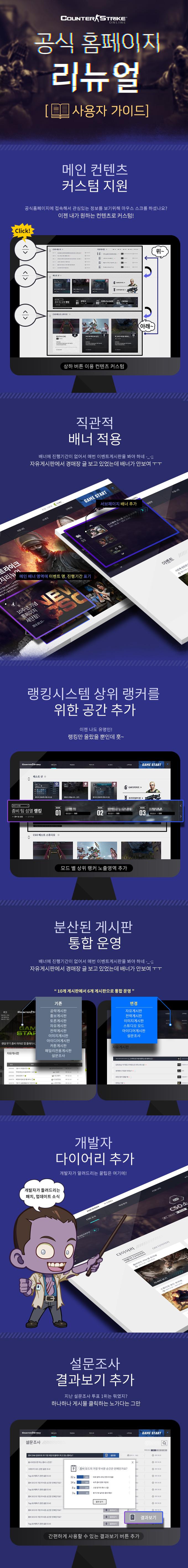 공식 홈페이지 리뉴얼 사용자 가이드